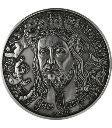 JESUS NAZARENUS Gesu Cristo Di Nazaret Moneta Argento 1 Kilo Kg 10000 Franchi Burkina Faso 2014