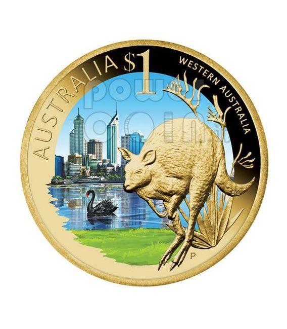 WESTERN AUSTRALIA CELEBRATE AUSTRALIA Moneda 1$ Australia 2009