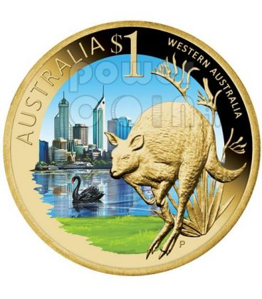 AUSTRALIA OCCIDENTALE CELEBRATE AUSTRALIA Moneta 1$ Australia 2009