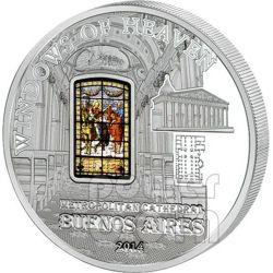 WINDOWS OF HEAVEN METROPOLITAN CATHEDRAL Buenos Aires Moneda Plata 10$ Cook Islands 2014
