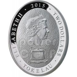 GOAT Five Elements Lunar Year 1 Oz Moneda Plata 2$ Tokelau 2015