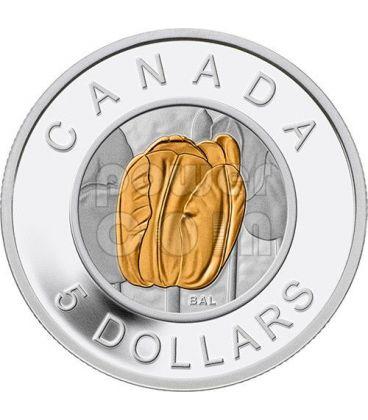 TULIPANO Niobio Colorata Tulip Niobium Flowers In Canada Moneta Argento 5$ Canada 2014