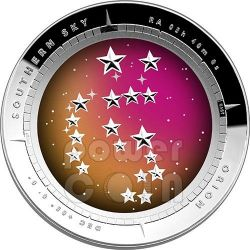 ORION CONSTELLATION Southern Sky Curved Domed Silver Proof Coin 5$ Australia 2014