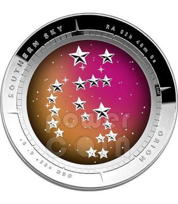 COSTELLAZIONE DI ORIONE Orion Cielo Australe Southern Sky Moneta Argento 5$ Australia 2014