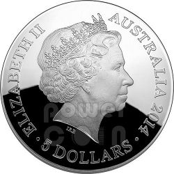 ORION CONSTELLATION Southern Sky Curved Domed Plata Proof Moneda 5$ Australia 2014