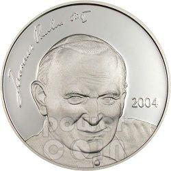 JOHN PAUL II Pope Серебро Монета 5$ Марианские острова 2004