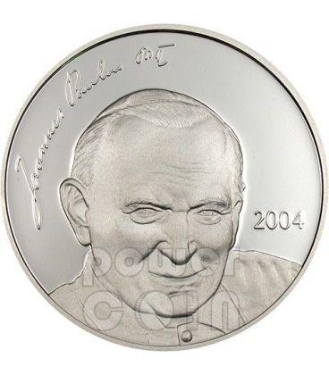 GIOVANNI PAOLO II Papa Moneta Argento 5$ Mariana Islands 2004