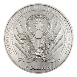 JOHN PAUL II Pope Moneda Plata 5$ Mariana Islands 2004