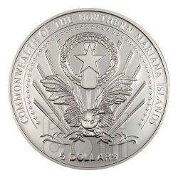 JOHN PAUL II Pope Silber Münze 5$ Mariana Islands 2004