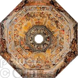 FRESCO UNDER THE DOME Florence Cathedral Brunelleschi Vasari 9 Silver Coin Set 1 Kilo Kg 10$ Niue 2014