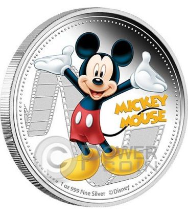MICKEY MOUSE Topolino Mickey And Friends Disney 1 Oz Moneta Argento 2$ Niue 2014