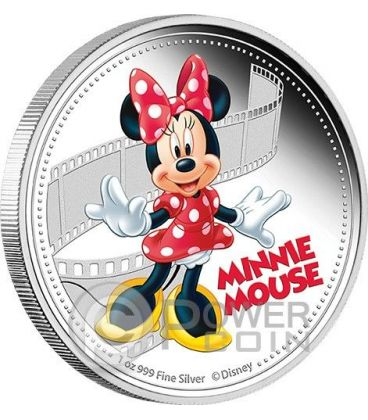 MINNIE MOUSE Minni Mickey And Friends Disney 1 Oz Moneta Argento 2$ Niue 2014