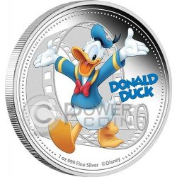 DONALD DUCK Mickey And Friends Disney 1 Oz Silver Proof Coin 2$ Niue 2014