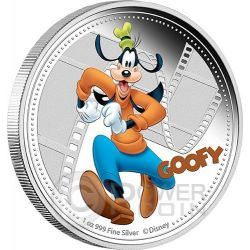 GOOFY Mickey And Friends Disney 1 Oz Silver Proof Coin 2$ Niue 2014