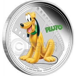 PLUTO Mickey And Friends Disney 1 Oz Moneta Argento 2$ Niue 2014