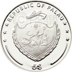 FOUR LEAF CLOVER Ounce Of Luck Серебро Монета 1 Oz 5$ Палау 2015