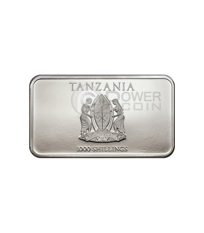 Three Wise Monkeys Silver Coin 1000 Shillings Tanzania 2014 Power Coin