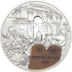 TEN COMMANDMENTS (3) Third Commandment Silver Coin 2$ Palau 2014
