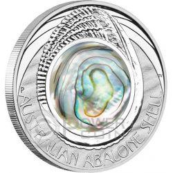 AUSTRALIAN ABALONE SHELL 1 oz Moneda Plata 1$ Australia 2014