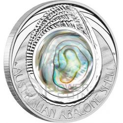 AUSTRALIAN ABALONE SHELL Madreperla Australiana Moneta Argento 1$ Australia 2014