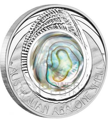 AUSTRALIAN ABALONE SHELL 1 oz Silver Coin 1$ Australia 2014