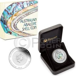 AUSTRALIAN ABALONE SHELL 1 oz Серебро Монета 1$ Австралия 2014