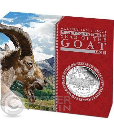 GOAT Lunar Year Series 1 Oz Silver Proof Coin 1$ Australia 2015