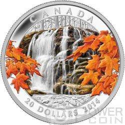 AUTUMN FALLS Canada Atmospheric Seasons Silver Proof Coin 20$ Canada 2014