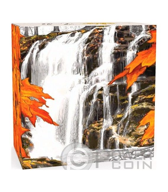 CASCATE AUTUNNO Autumn Falls Canada Atmospheric Seasons Moneta Argento 20$ Canada 2014