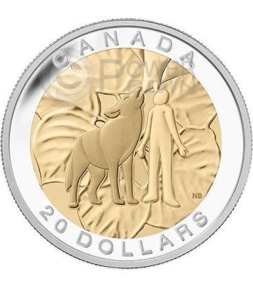 HUMILITY Lupo Seven Sacred Teachings Prime Nazioni Umilta Moneta Argento 20$ Canada 2014