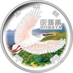 NIIGATA 47 Prefectures (5) Plata Proof Moneda 1000 Yen Japan 2009