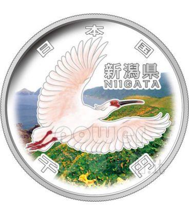 NIIGATA 47 Prefetture (5) Moneta Argento 1000 Yen Giappone 2009