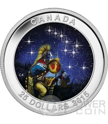 STAR CHARTS The Quest Big Dipper Silver Coin 25$ Canada 2015