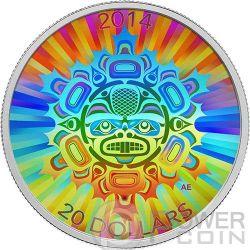 INTERCONNECTIONS Land Beaver Hologram Moneda Plata 20$ Canada 2014