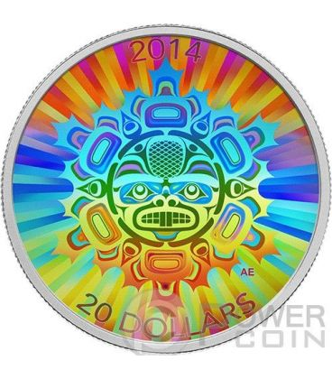 INTERCONNECTIONS Land Beaver Hologram Silver Coin 20$ Canada 2014