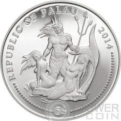 YELLOW BOXFISH Marine Life Protection Серебро Монета 5$ Палау 2014