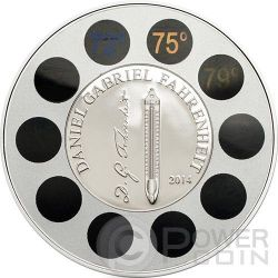 DANIEL GABRIEL FAHRENHEIT Termometro Moneta Argento 5$ Palau 2014