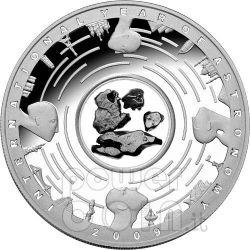 METEORITE Anno Internazionale Astronomia IYA Moneta Argento 5$ Australia 2009