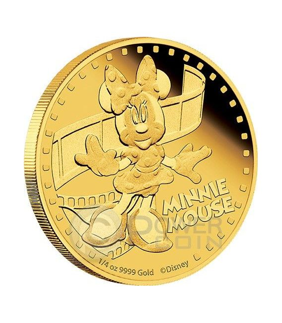 MINNIE MOUSE Minni Mickey And Friends Disney 1/4 Oz Moneta Oro 25$ Niue 2014