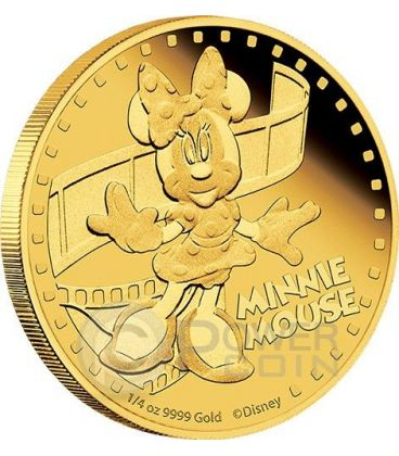 MINNIE MOUSE Minni Mickey And Friends Disney 1/4 Oz Moneta Oro 25$ Niue 2014