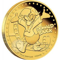 DONALD DUCK Mickey And Friends Disney 1/4 Oz Gold Proof Coin 25$ Niue 2014