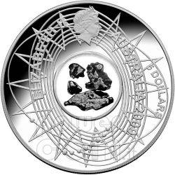 METEORITE International Year Astronomy IYA Silver Coin 5$ Australia 2009