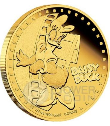 DAISY DUCK Paperina Mickey And Friends Disney 1/4 Oz Moneta Oro 25$ Niue 2014