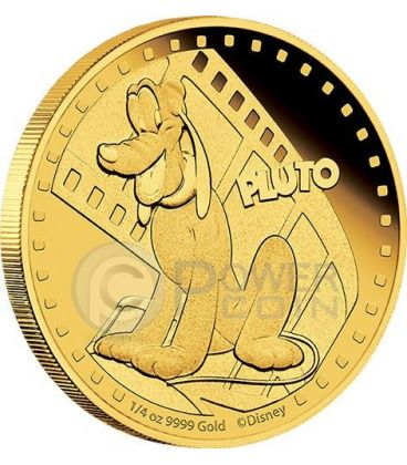 PLUTO Mickey And Friends Disney 1/4 Oz Gold Proof Coin 25$ Niue 2014