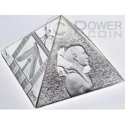 GRANDE PIRAMIDE Great Pyramids Moneta 3 oz Argento 15$ Niue 2014