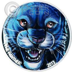 PANTERA NERA Colorata Black Panther Moneta Argento 1000 Franchi Costa Avorio 2013