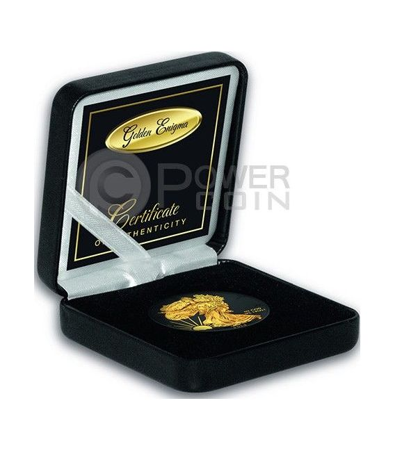 GOLDEN ENIGMA Walking Liberty Black Ruthenium 1 Oz Silber Münze 1$ Dollar USA 2014