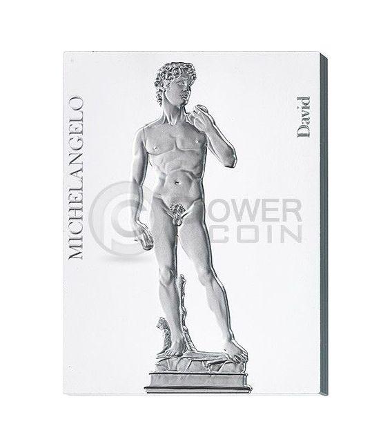 SCULTURE MICHELANGELO Sculptures 450 Anniversario Buonarroti Set Sette 7 Monete Argento 10$ Niue 2014