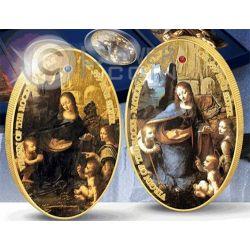 VIRGIN OF THE ROCKS Vergine Delle Roccie e Sorella Set Due Monete Argento Oro 2 Pound Santa Elena Ascensione 2014