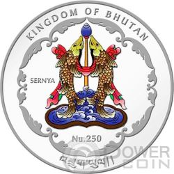 MAITREYA BUDDHA World Heritage Vietnam Серебро Монета Бутан 2014